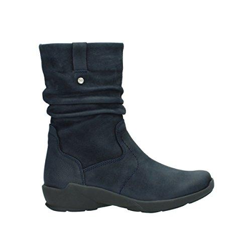 Wolky Comfort Stiefel Luna - 11802 blau geöltes Nubuk - 40