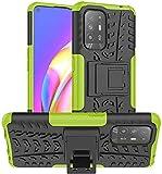 Lapinette Carcasa compatible con Oppo A94 5G antigolpes, protección antigolpes, diseño Spider, color verde