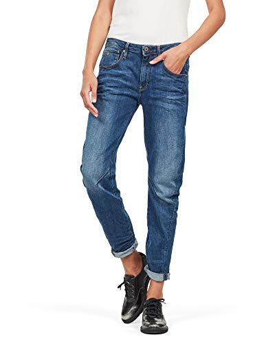G-STAR RAW Damen Arc 3D Low Waist Boyfriend Jeans, Blau (medium Aged 6553-071), 30W / 32L
