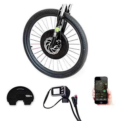 GJZhuan Kit de conversión eBIKE E-Bici Kit De Conversión Bicicleta Eléctrica Kit De Conversión con Batería Inalámbrica O por Cable Sólo Un Todo En Un Kit De Conversión Eléctrica De La Bici 2020