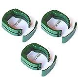 34 mm Zaun Pfosten Schelle Halter Clip für Gartenzaun Schweißdraht Gartengitter am Pfahl in grün RAL 6005