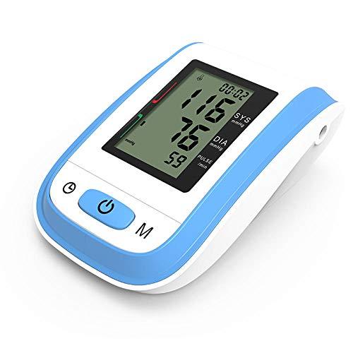 Medidor de presión Arterial portátil Tensiómetros de Brazo Digital BP Cuff Muñeca Esfigmomanómetro Monitor Frecuencia cardíaca Pulso Tonómetro Negro-Azul