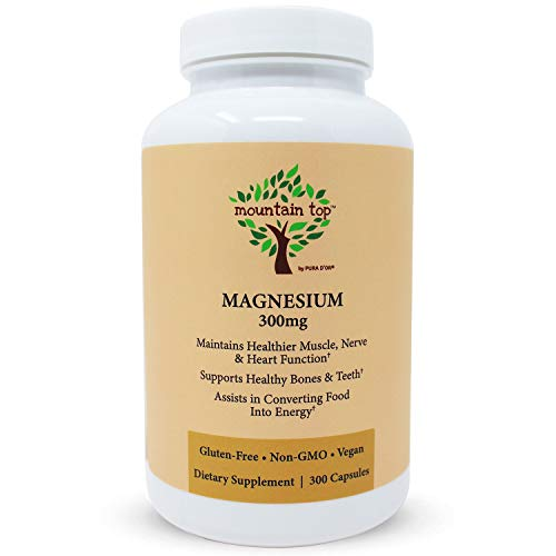 MOUNTAIN TOP Magnesium 300mg Capsules (300 Count) - Magnesium Oxide Mineral Supplement For Nutrition Support Maryland
