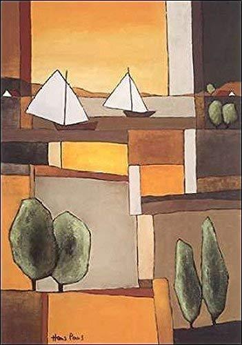 Keilrahmen-Bild - Hans Paus: Two Boats II 50 x 70 cm Leinwandbild