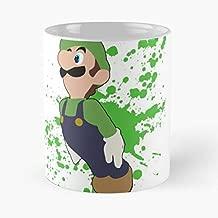 Luigi - Super Smash Bros For Wii U Classic Mug The Funny Coffee Mugs Halloween, Holiday, Christmas Party Decoration 11 Ounce White-ghospell.