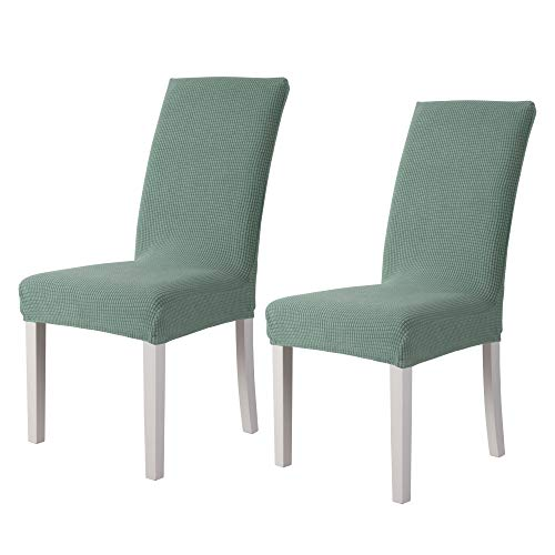 sancua Stretch Jacquard Dining Chair Cover - 2 Piece - Removable Washable Chair Protector for Dining Room, Hotel, Ceremony, Banquet, Wedding and Party, Sage
