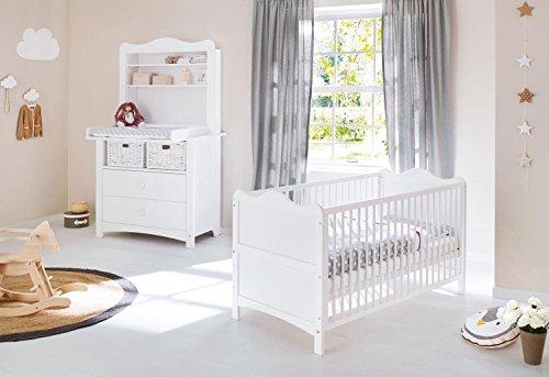 Pinolino 090023BR Sparset 'Florentina' breit, inklusiv Regalaufsatz, weiß