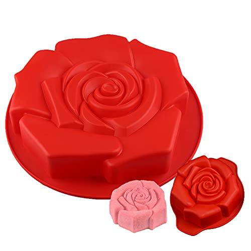 Holzsammlung 2 Stücke Rose Form Silikon...