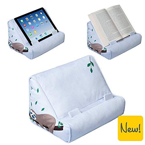 Book Couch iPad Tablet Holder Novelty eReader Rest Sofa Pillow Stand Gift Idea (Sloth)