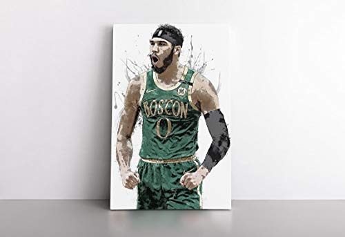 Jay_Son Ta_tum Poster Bos_ton Celtic_s Basketball Painting Hand Made Posters Print Kids Wall Art Man Cave Gift Home Decor 11x17 16x24 24x36 Inch (No Frame)