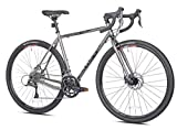 Giordano Trieste Gravel Bike, 700c Small, Gray