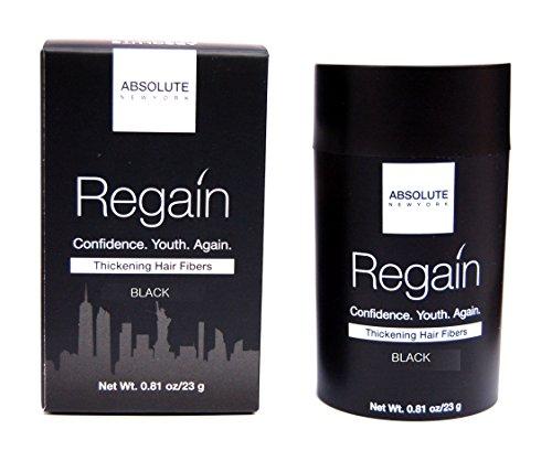 Regain Hair Fibers by Absolute 0.81oz / 23g (Black)