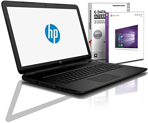 HP (17,3 Zoll) Notebook (Intel N4000 2Core 2x2.60 GHz, 16 GB RAM, 1 TB SSD, DVD±RW, Intel HD600, HDMI, Webcam, Bluetooth, USB 3.0, WLAN, Windows 10 Prof. 64 Bit, #6574
