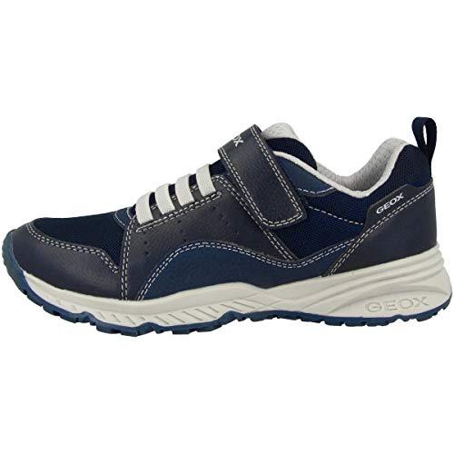 Geox Zapatillas deportivas Bernie para niños, plantilla suelta, color Azul, talla 35 EU