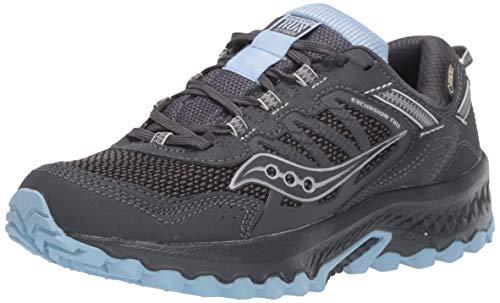 Saucony Women's VERSAFOAM Excursion TR13 GTX Road Running Shoe, Black/Blue, 8.5 M US