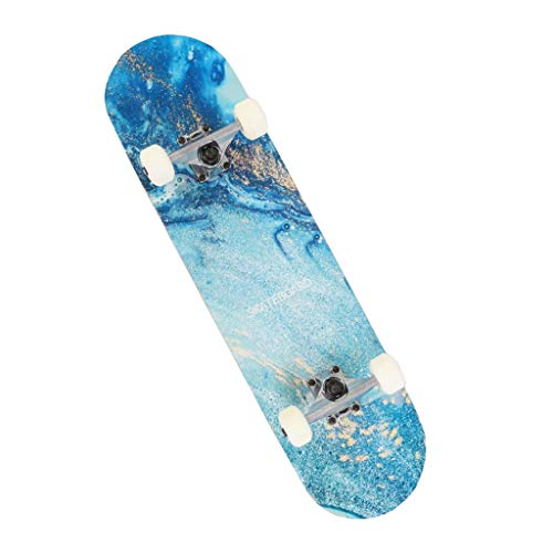 Lgan Skateboard Ado, Débutant Skateboard Complet,31x8in Érable Skateboard Enfant, Adulte Les Adolescents Skat Board (Color : FF)