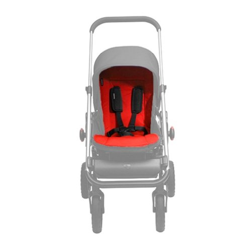 EasyWalker ej10018 stoelbekleding voor kinderwagen - universeel verstelbaar, rood