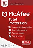 McAfee Total Protection 2021 Unlimited Devices, Antivirus Internet Security...