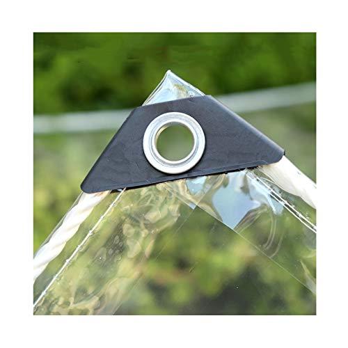 WZNING Tarpaulina Transparente, PVC Impermeable Impermeable al Aire Libre a Prueba de Viento y Resistente a Prueba de Escarcha con Cubierta de Muebles de jardín de Ojal Durable y Protector