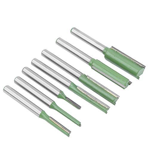 Juego de 7 brocas de enrutador, cortador de fresado para carpintería de acero de tungsteno de vástago de 6mm, herramienta de carpintería con punta de carburo para fresadoras y máquinas de corte