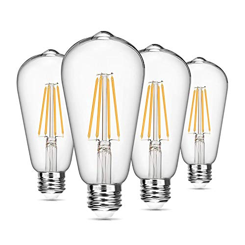 Vintage LED Edison Bulb Dimmable 8W ST64 Led Filament Light...