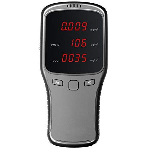 Monitor De Contaminación De La Calidad del Aire, Detector De Formaldehído, Medidor De Temperatura Y Humedad, Sensor, Probador; Detecte PM2.5 / PM10 / PM1.0 Micron Dust para Oficina En El Hogar