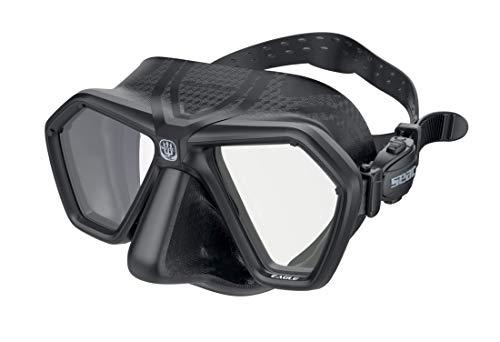 SEAC Eagle Mascara para apnea y Pesca submarina, Unisex-Adult, Negro, One Size
