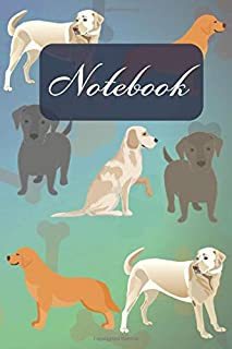 Notebook: Cute Black Yellow Tan Brown Chocolate Labrador Retriever - Dogs Diary / Notes / Track / Log / Journal , Book Gifts For Dad Mom Friends Kids Teens 6x9