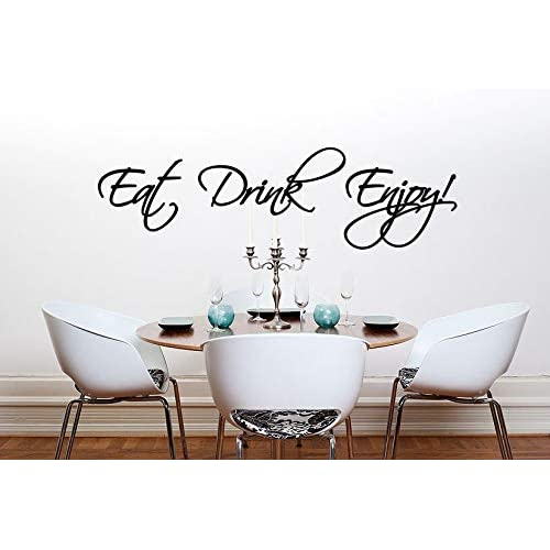 Eat Drink Enjoy Kitchen Dining Room Wall Sticker Quote