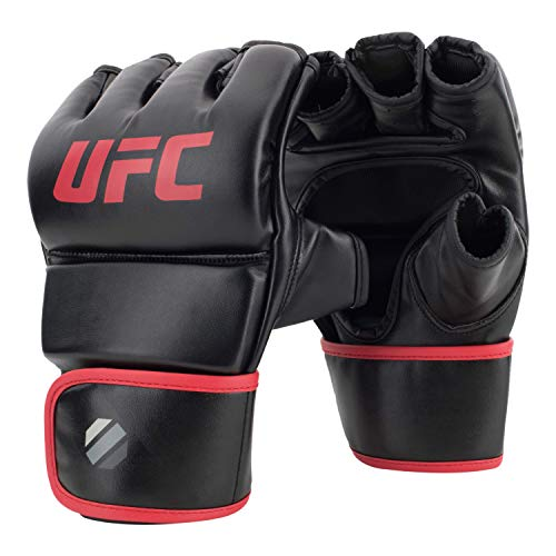 UFC 6oz Fitness Gloves - L/XL - MMA Gloves, Black, Large/X-Large