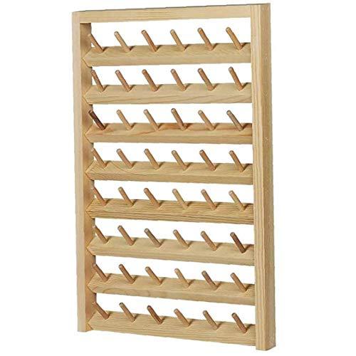Thread-Rack 48-Spool Wand- Nähen Garnrollenhalters Mit Hängenden Haken Holz Organizer Für Quilting Stickerei Speicherbedarf