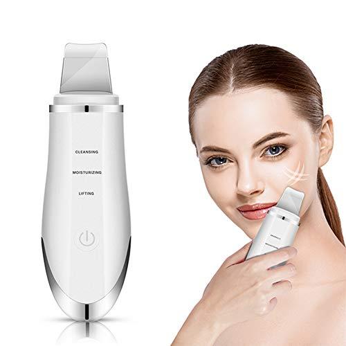 Juzijintianchilema Skin Scrubber, Ultraschallpeelinggerät Skin Scrubber, Ultraschall-Peeling Porenreiniger Akne-Entferner Ionen Hautreiniger für Gesichtsreinigung Gesichtspflege
