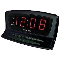 Westclox 70012Bk Alarm Clock, Black