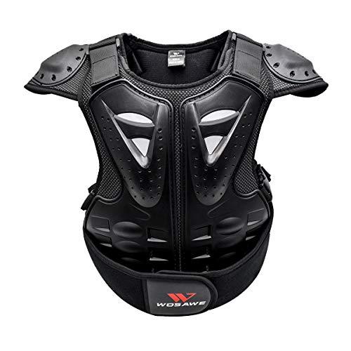 GITVIENAR brustpanzer Kinder Motorrad Weste Brustpanzer schutzkleidung mit Rückenprotektoren für Mountainbike&Motorradfahren& Radfahren&Skateboarden