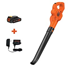 Easily clears debris from hard surfaces like driveways, decks, and garages Air speed up to 130 Miles per hour Operates on a 20V MAX 1.5 Ampere hour Lithium Ion battery that holds its charge for up to 18 months Lightweight with a low noise design.Maxi...