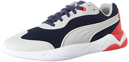 Puma Ekstra, Baskets Mixte Adulte, Bleu (Peacoat-High Rise-Puma White-High Risk Red 05), 43 EU