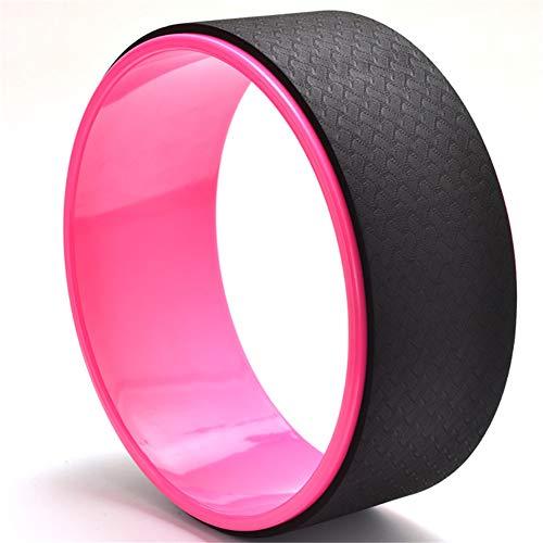 DC CLOUD Rueda Yoga Yoga Circle Ejercicios de Pilates DE LA Rueda Rueda de Yoga para Estiramiento Rueda de Apoyo para Yoga Poses Pink-Black,-