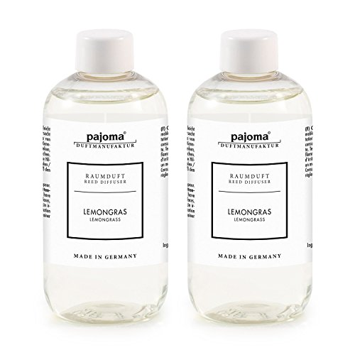 pajoma Raumduft Nachfüllflasche, Lemongras, 2er Pack (2X 250 ml)