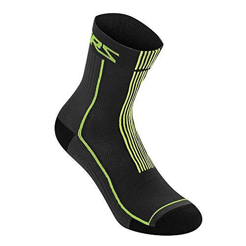 AS 1701220 Apline Stars Sommer Socken 15 MTB Herren Mountainbike Downhill Trail, Schwarz/Acid Yellow, L (UK 10-12 / EU 44-47)