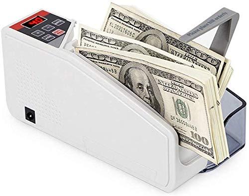 JFZCBXD Hand Geld Zähler Banknotenzählmaschine Portable Cash-Banknote Dollar Währungszähler, 2 Arbeitsweisen (Laden oder Batterie)