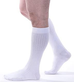 Allegro Men's 15-20 mmHg Premium 108 Microfiber Cotton Compression Support Socks