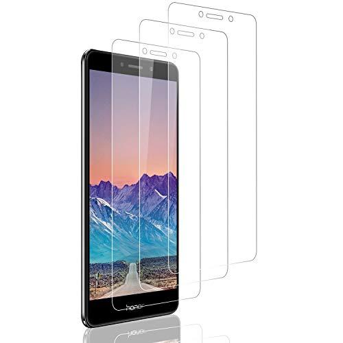 SNUNGPHIR 3 Pezzi Vetro Temperato Compatibile con Huawei Honor 6X, Pellicola Prottetiva Anti Graffio, Anti-Impronte, 0,33mm Ultra Trasparente, Senza Bolle, Ultra Resistente,Facile installare