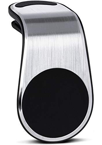ONEFLOW® Premium Magnet Handyhalterung Auto Lüftung für Huawei und Honor | Universal Handy Halterung KFZ Kompakt Ultra Leicht und Sicher - Handyhalter für das Auto Magnetisch, Silber