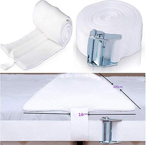 Sxspace Kit convertidor de Cama Twin a King - Relleno de separación de Camas - Conector de colchón para Invitados, estadías y reuniones Familiares
