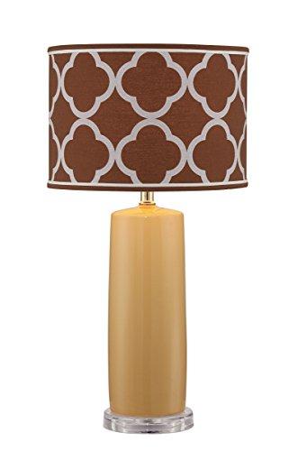 "Lite Source LS-22758 Monisha Table Lamp, 13.0"" x 13.0"" x 24.75"", Mustard/Light Brown Moroccan"