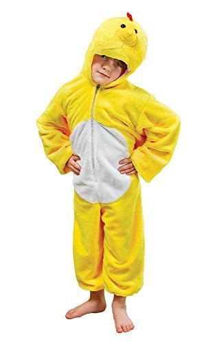 Bristol Novelty- CC813 Costume de Poulet en Peluche, Taille, Jaune, Moyen