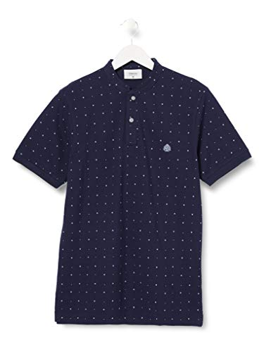 Springfield Herren 5ba Mao AOP Slim-c/12 Poloshirt, Blau (Medium_Blue 12)