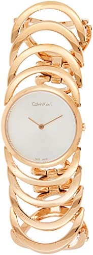 Calvin Klein Women's Quartz Watch Analogue Leather K4G23626