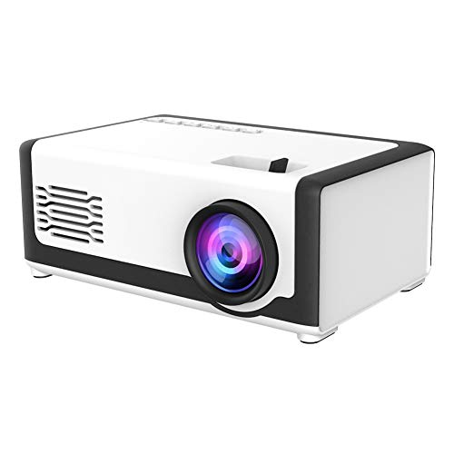 Dilwe1 Mini Projector, Full HD 1080P LED Projector, Video Movie Projector Built‑in 3D Audio Speakers, Pocket Home Theater Media Player for Children Present(UK)