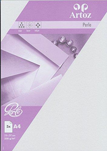 Artoz Papier AG - Perle Karte A4 weiss einfach 5er-Pack